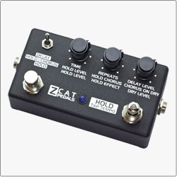 ZCAT Hold - Delay - Chorus handmade guitar effects pedal is a digital multi-effects processor featuring high quality Delay (1 sec) with Tap Tempo function, Chorus and unique Hold effect.