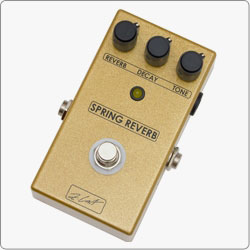 ZCAT Realistic simulation of classic spring reverb and great tonal flexibility in a compact handmade guitar effects pedal.
