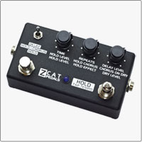 Z.Cat Hold - Delay - Chorus handmade guitar effects pedal is a digital multi-effects processor featuring high quality Delay (1 sec) with Tap Tempo function, Chorus and unique Hold effect. ></a><br>></a><br>
