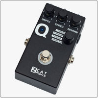 Z.Cat Q-Mod is a digital guitar multi-effects processor featuring Chorus, Flanger, Phaser and Tremolo. The handmade guitar effects pedal features also an independent Reverb effect that can be used with or without other effects. ></a><br>></a><br>