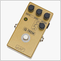 ZCAT Q-Trem is a versatile and compact Tremolo boutique guitar pedal that features four waveshapes: sine,square,  sawtooth and reversed sawtooth.